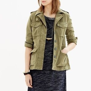 Madewell olive green army jacket